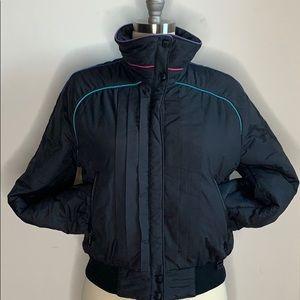 White Stag Black Multi Color Striped Jacket Coat